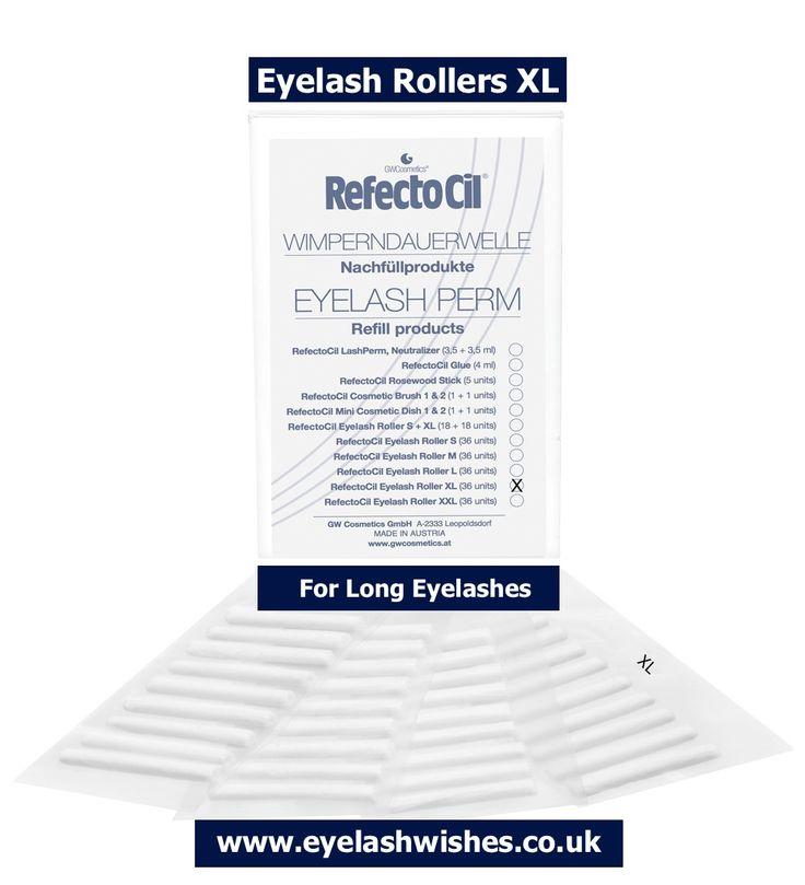 X-Large Eyelash Rollers - XL Eyelash Rollers. Extra Large Eyelash Rollers (XL) for very long eyelashes. http://www.eyelashwishes.co.uk/refectocil-lash-perm-rollers-xl.html #eyelash #rollers #large