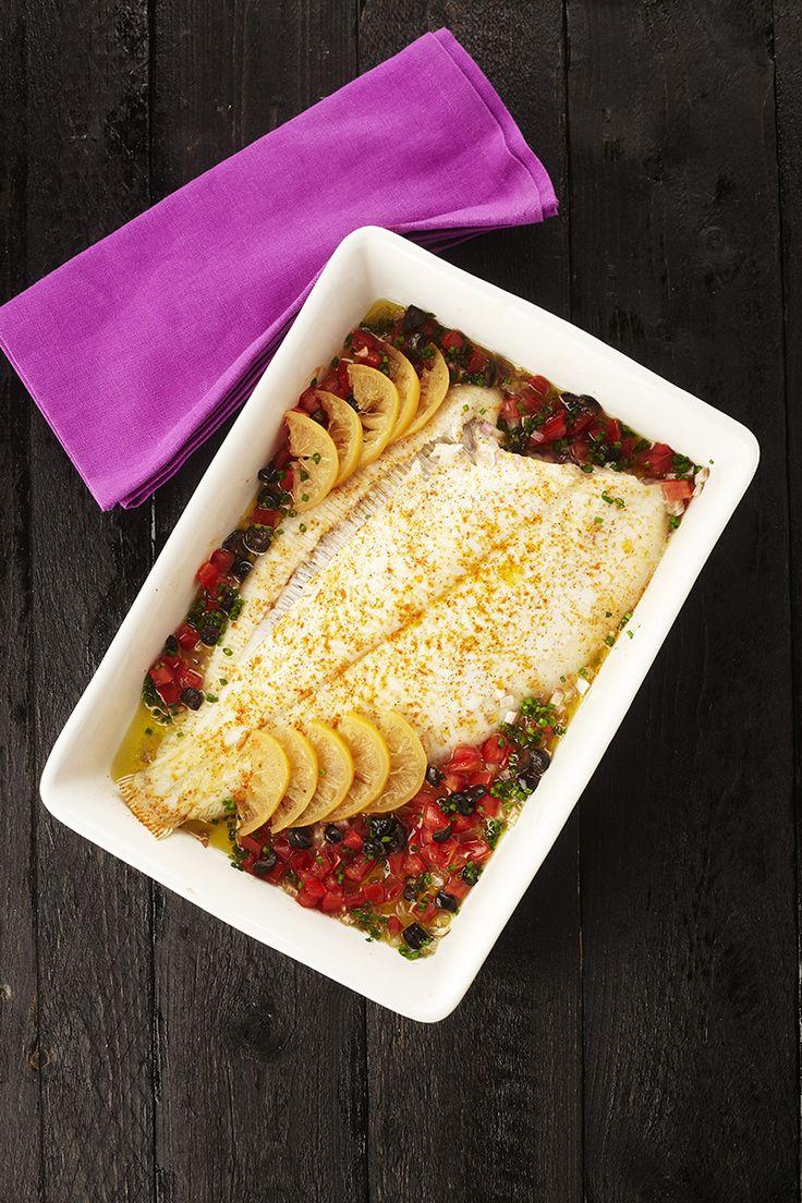 Recept tongschar met paprika en gekonfijte citroen
