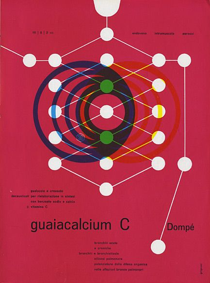 Franco Grignani – Medical advertisement for Dompé Pharmaceutical (Milan) product.
