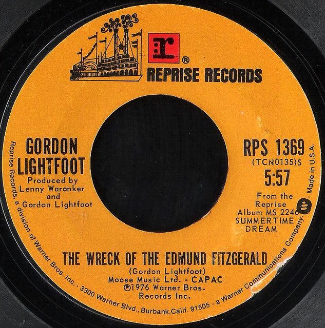 """The Wreck Of Edmund Fitzgerald"" Gordon Lightfoot 1976. One of my favorite songs of all time. Very haunting!"