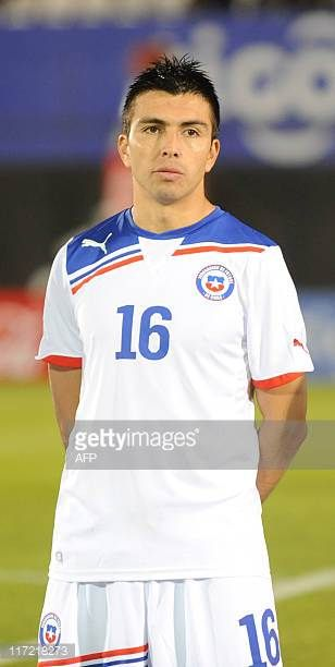 Chile's national football team player Gonzalo Fierro before their friendly match against Paraguay in Asuncion on June 23 2011 AFP PHOTO Pablo Burgos