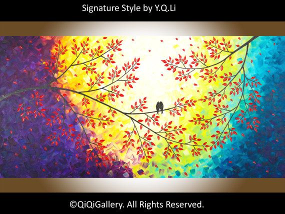 Cyber Monday Art painting acrylic painting Original by QiQiGallery