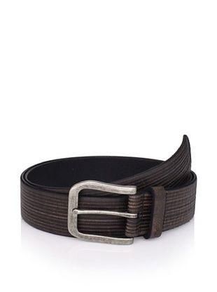 John Varvatos Star USA Men's Striped Leather Belt