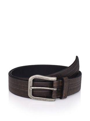 John Varvatos Star USA Men's Striped Leather Belt
