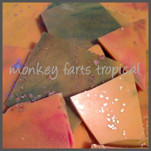 Monkey 💨 farts 😂tropical Scented Soy wax brittle Highly scented www.pure-scents.com