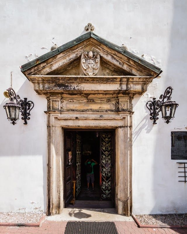 The portal of the parish church of the Assumption of the Blessed Virgin Mary (erected in XIV century), Ilza, Poland