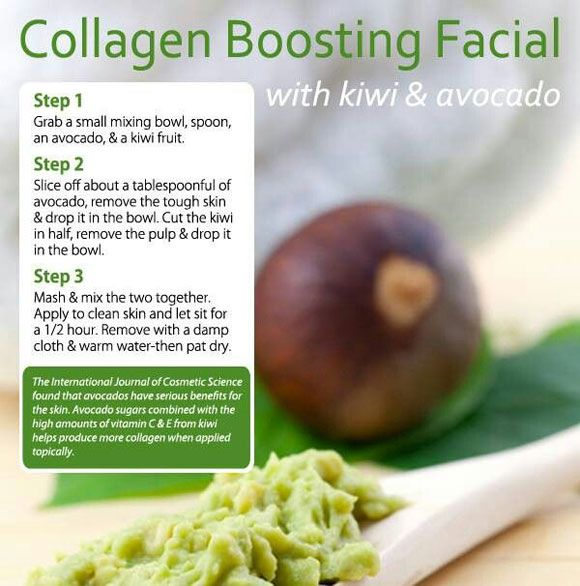 Collagen boosting fruity mask