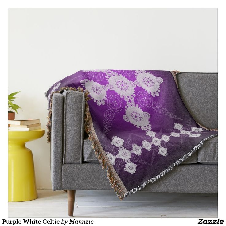 Purple White Celtic Throw