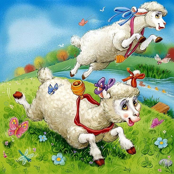 Овцы и козы прикольные картинки, открытки