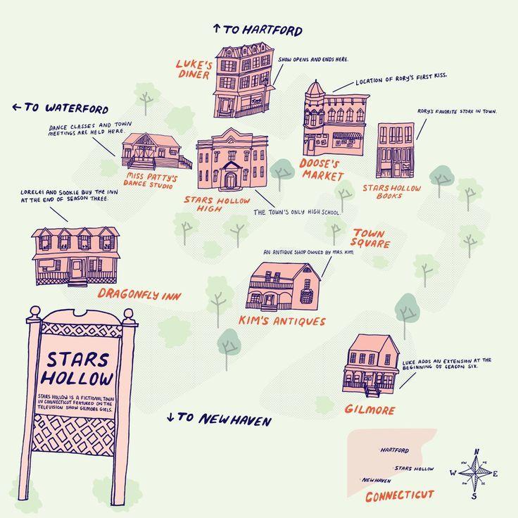 best 25 stars hollow map ideas only on pinterest gilmore girls