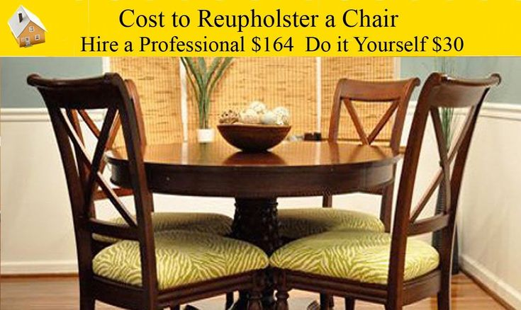 Cost to reupholster a dining room chair