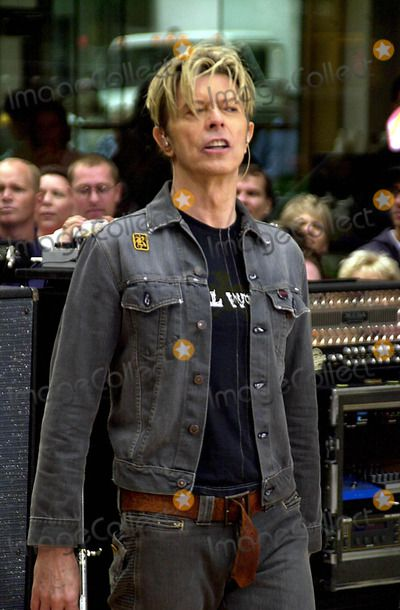 David Bowie Performing on the Today Show Concert Series at Rockefeller Center in…