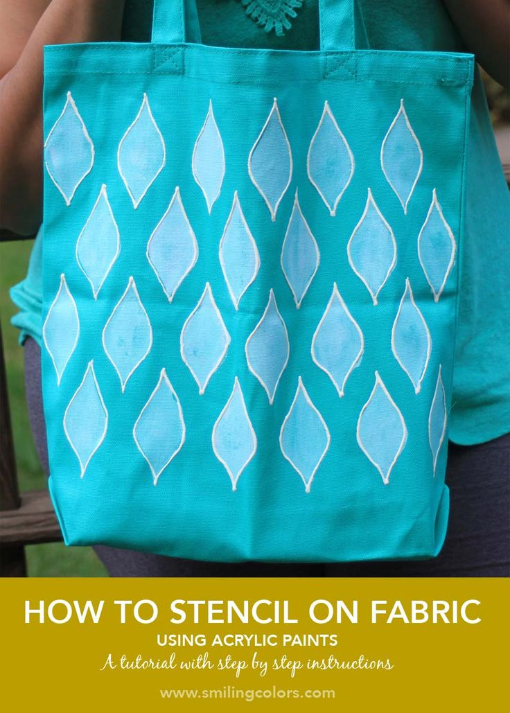 Stenciling on fabric is easier than you think. Smiling Colors shares just how easy in her step-by-step guide. Click through to see how simple it is to turn a plain tote into something special.