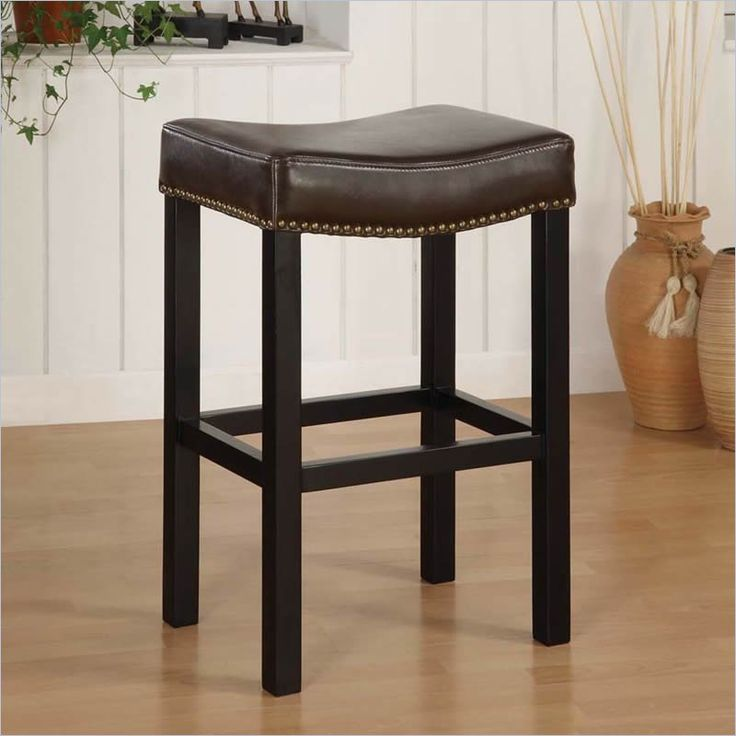 Armen Living Tudor 26 Quot Backless Stationary Bar Stool In