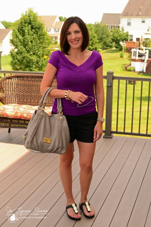 How to wear dressy shorts, a great modern summer look: Fashion Over 40 | Daily Mom Style at Musings of a Housewife