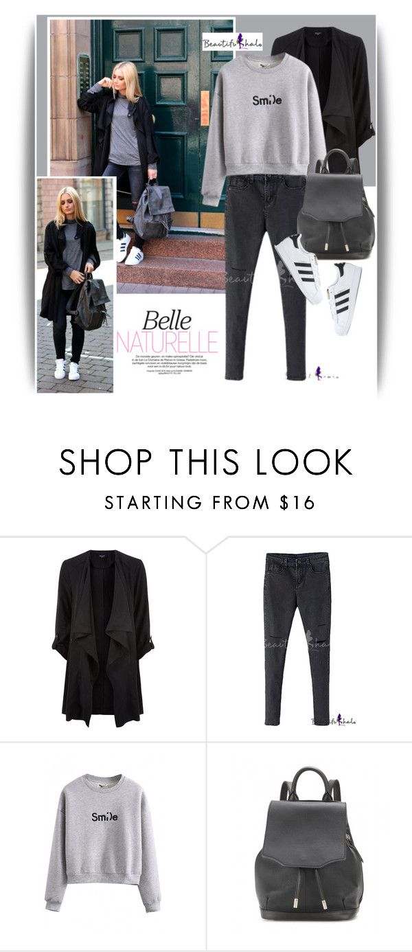 """Blogger Style with Beautifulhalo"" by dora04 ❤ liked on Polyvore featuring moda, rag & bone, adidas, beautifulhalo i bhalo"