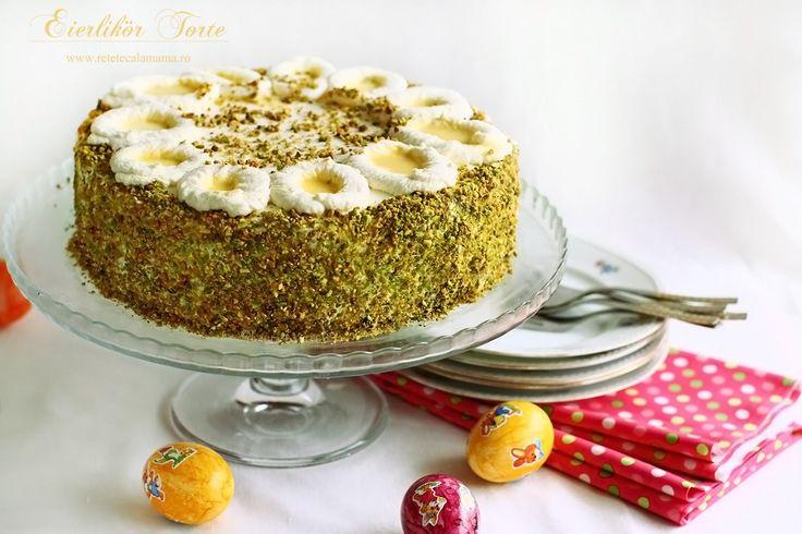 Tort cu lichior de oua, un autentic Eierlikör Torte in stil german Probabil cel mai popular tort de Pasti din Germania, eierlikör Torte(tort cu lichior de oua, in traducere) este...