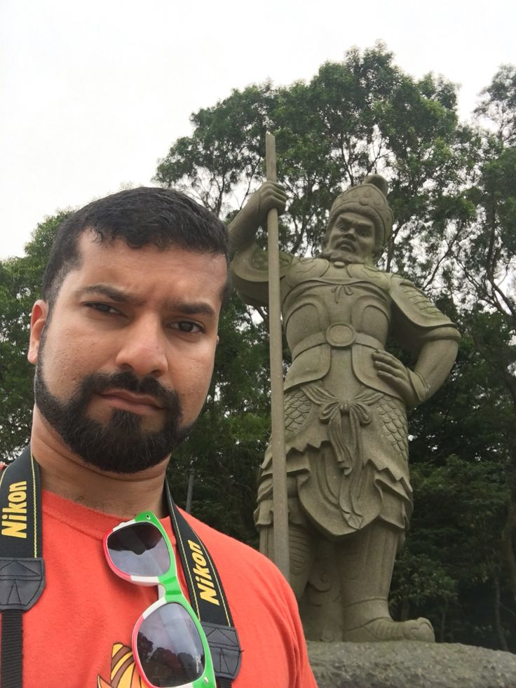 One of the 12 Divine Generals, en route to the giant Buddha on Lantau Island. He's clearly pissed I took a selfie.