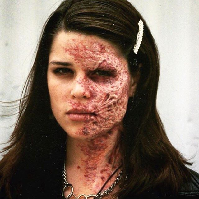 "Here is a look back at the awesome burn makeup by SFX MUA David Smith. (@creaturesmith331). --- He sculpted and applied this awesome work on the beautiful Neve Campbell (who hasn't aged btw) while working for Alterian on The Craft (1996). ❤️ --- ""In the movie this burn is an illusion so it's a little more stylized than a normal burn."""
