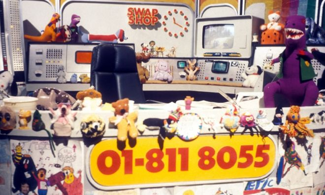 "Noel Edmund's multi coloured ""Swap Shop"" - Saturday mornings, I still remember the phone number for some reason.. This was back when it was cool to be Keith Chegwin"