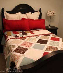 Figgy Christmas Quilt- When the holiday season comes around, make sure you are in the holiday spirit with this Christmas bed quilt pattern.