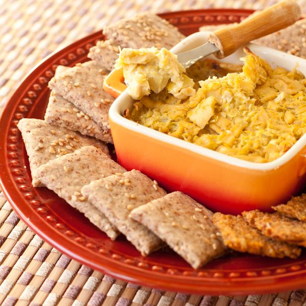 Artichoke Onion Dip with Sesame Crackers from Recipe ...