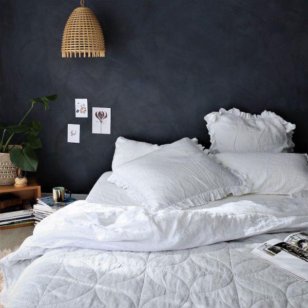 French Linen Bespoke Blanket - Fog