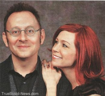 I know Michael Emerson creeps people out, but he is such a phenomenal actor, and this picture with his wife Carrie Preston is so sweet!