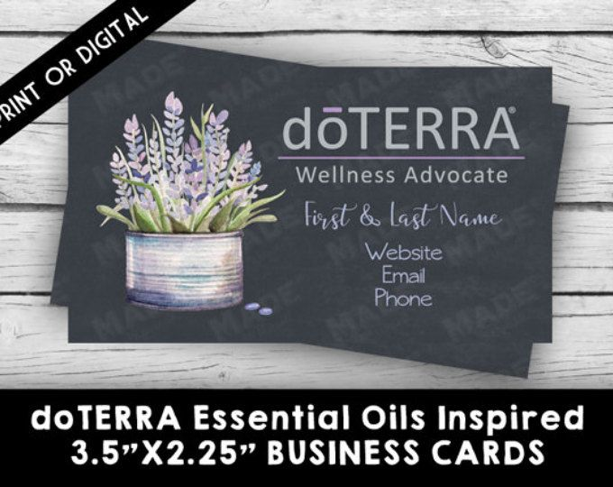 doTERRA ESSENTIAL OILS Lavender Business Card - PRINTED, Marketing Tools, Printable, Business Stationery, Calling Cards, Direct Sales