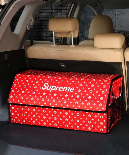 ヴィトンxシュプリーム 車載収納ボックス 折り畳み式 Car Storage Box Shoe Box Storage Supreme Wallpaper