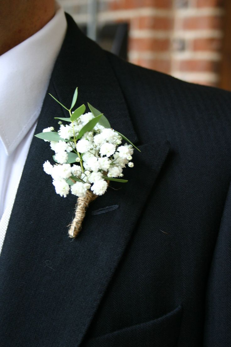 Gyp and twine buttonhole by Lindsey of The White Horse Flower Co. www.whfco.co.uk