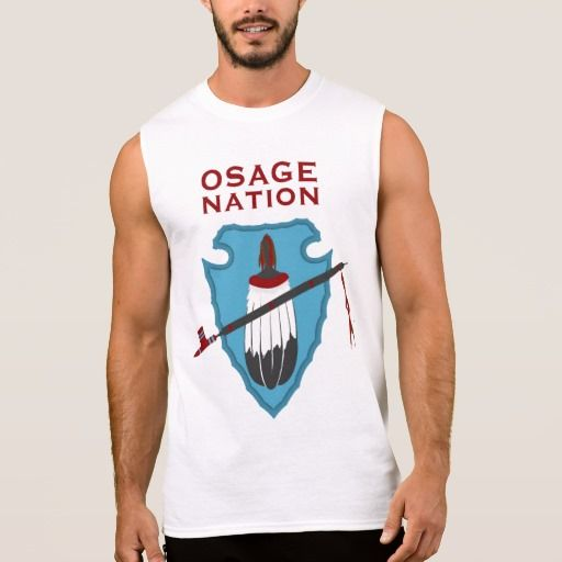 """Osage Nation Sleeveless Shirt Great Seal of Osage Nation - The Osage Nation, originally named Ni-u-kon-ska (""""People of the Middle Waters""""), is a Midwestern Native American tribe of the Great Plains who historically ruled much of Kansas, Oklahoma, Missouri and Arkansas."""
