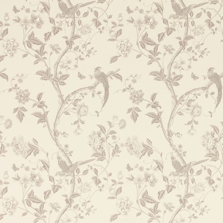 Summer Palace Dove Grey Floral Wallpaper at Laura Ashley