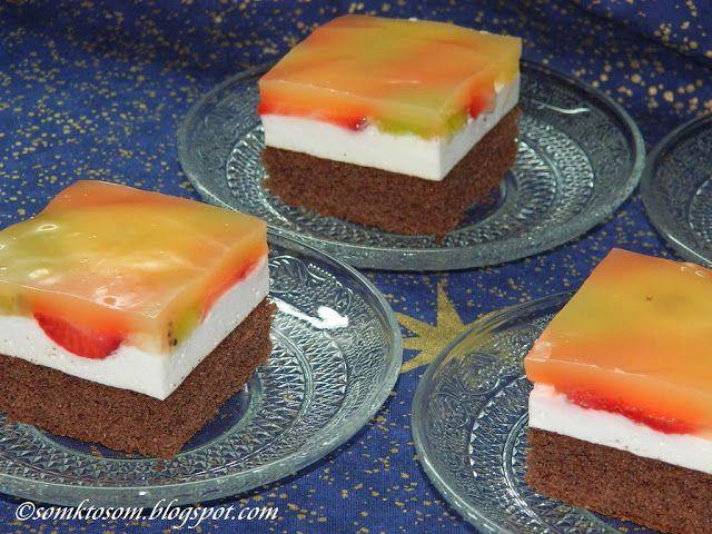 RECEPTY Z MOJEJ KUCHYNE A ZÁHRADY...: Ovocné jogurtové rezy
