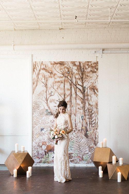 Feminine Forest Wedding Inspiration At Highpoint U0026 Moore