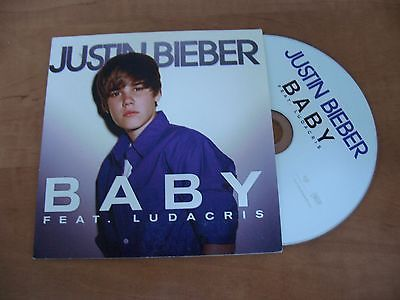 RARE FRENCH CD SINGLE 2T JUSTIN BIEBER BABY feat. LUDACRIS (2010)