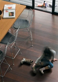 Bamboo flooring for master bedroom.