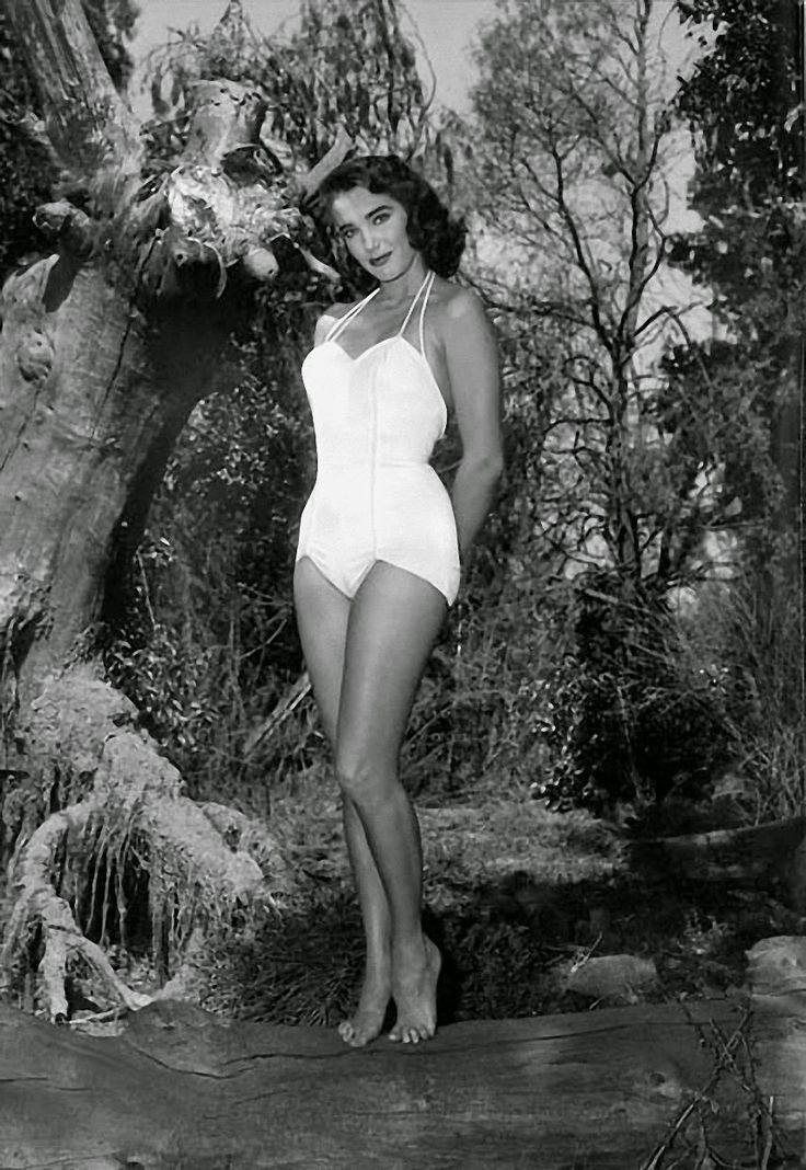 Julie Adams from Creature From the Black Lagoon (1954).  Saw this movie with my best friend.  We were about 13 and LOVED this swimsuit.....Until we realized neither one of us was going to look quite this good in it.
