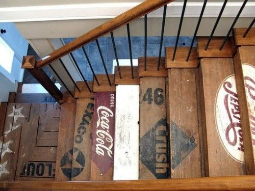 reclaimed_wood_stairs - I WISH I HAD STAIRS!!!