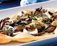 White Pizzas With Brie, Wild Mushrooms and Herbs