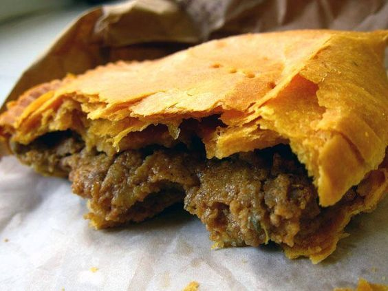 Jamaican Beef Patty  / Theses are made with a flaky pastry and are filled with a highly seasoned beef filling. #JamaicanFoodie @Jamaican Foodie