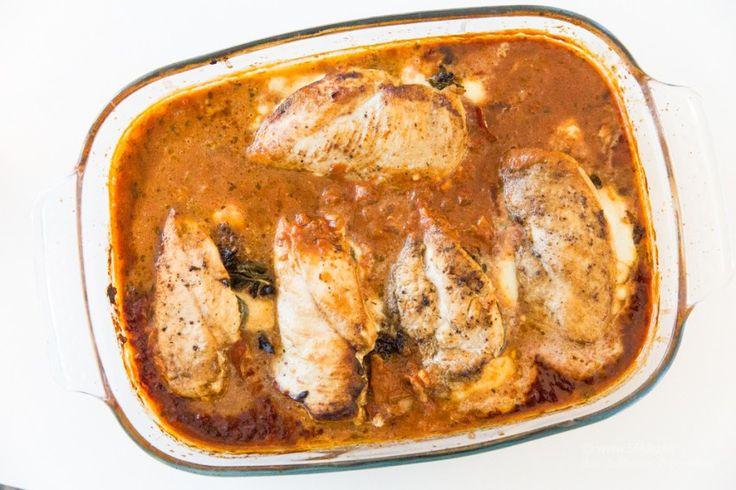 Italiensk fylld kyckling i tomatsås - 56kilo - lågkolhydratkost, glutenfritt och hälsosammare val