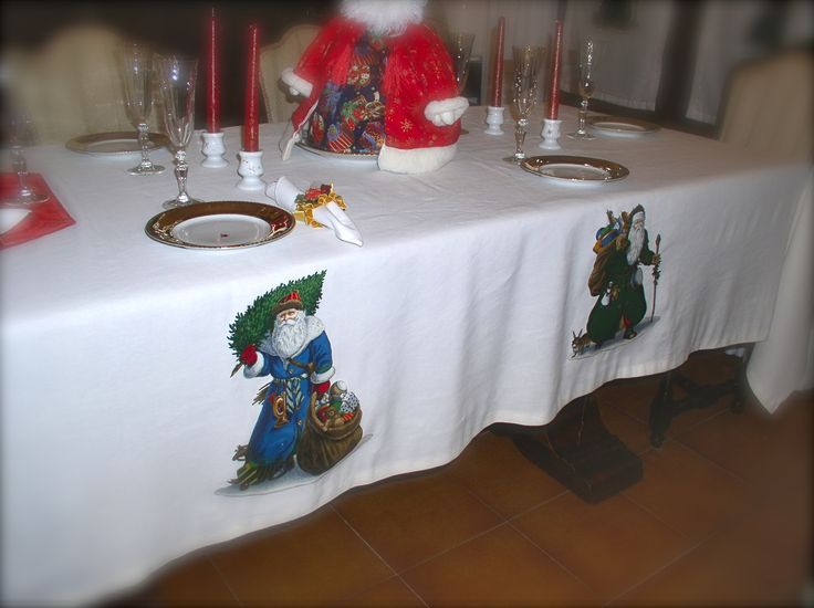 Le porcellane di Morena: Natale - Christmas - Noel - Hand painted christmas dinnerware - dish - ornaments - fabric