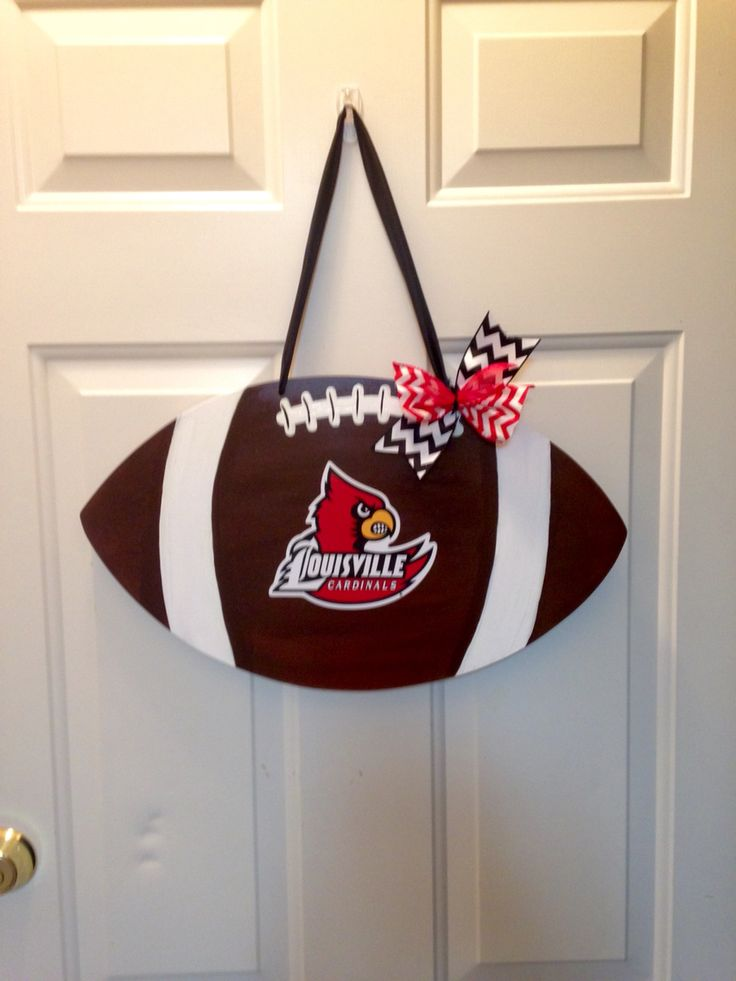 U of L football door hanger