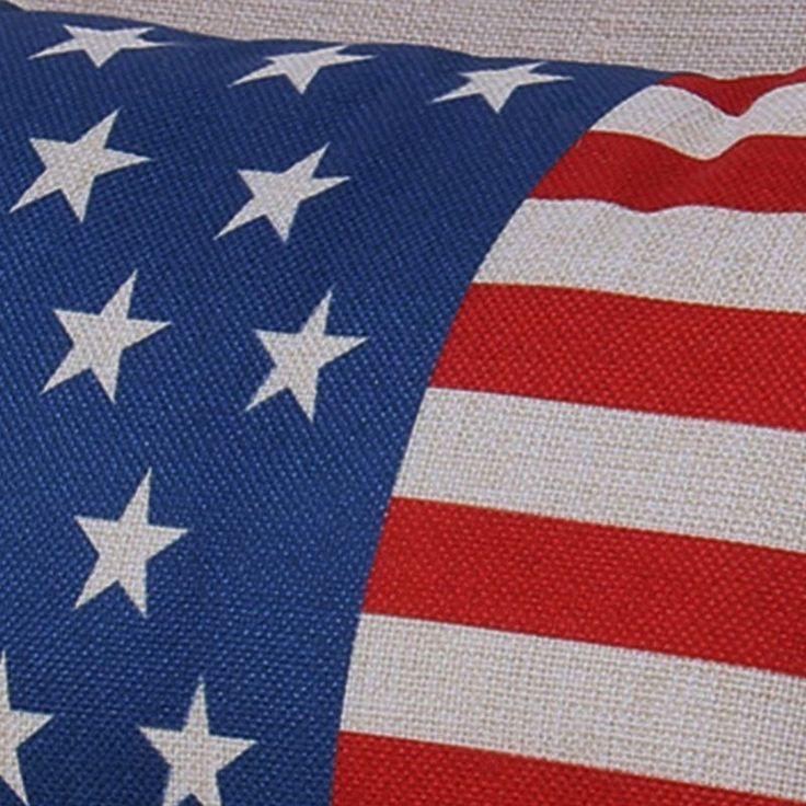 "New Complete Pillow American Flag Cushion Patriotic Home Decor Stars Stripes 18"" #Handmade #Americana"
