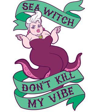 ursula, ariel, little mermaid, disney, villains, princess, disney villain, disney princess, illustration, hiphop, lol