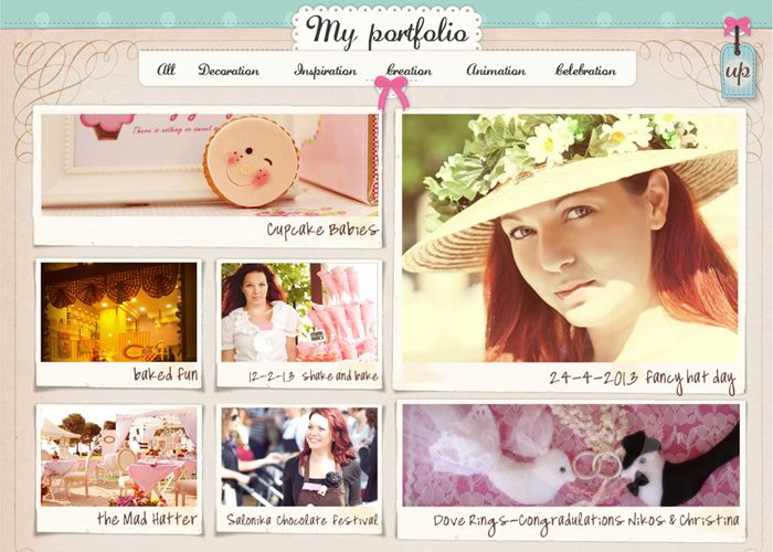 Allegria Web Agency in Greece | Κατασκευή Ιστοσελίδας. Web Design and Development for Maritsa's tailor made services. French style, frames, ribbons, dots and girly look for our girl Maritsa.