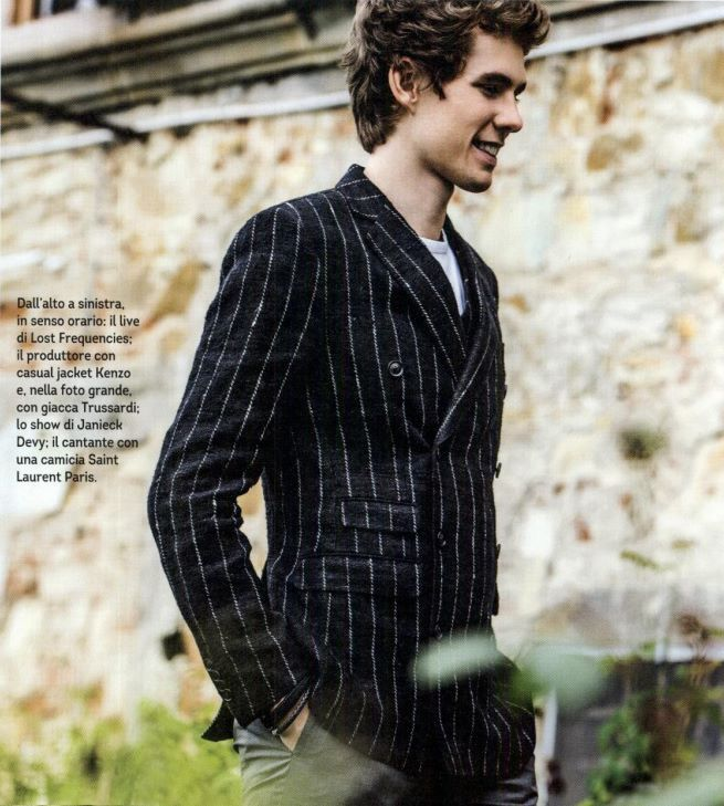 An intriguing casual classic: this is Felix Safran De Laet of Lost Frequencies wearing a TRUSSARDI total look from the Fall Winter 2016/17 collection on Rolling Stone Italia. #Trussardi #TrussardiEditorials