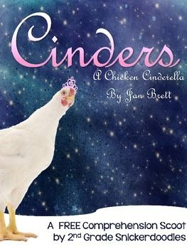 """Cinders: A Chicken Cinderella"" by Jan Brett is a delightful retelling of Cinderella that uses Russian architecture and costuming paired with an assortment of chicken breeds to tell the story.  The story is perfect for a literature component in a unit on friendship, bullying, fairy tales, Jan Brett's works, or farm life."