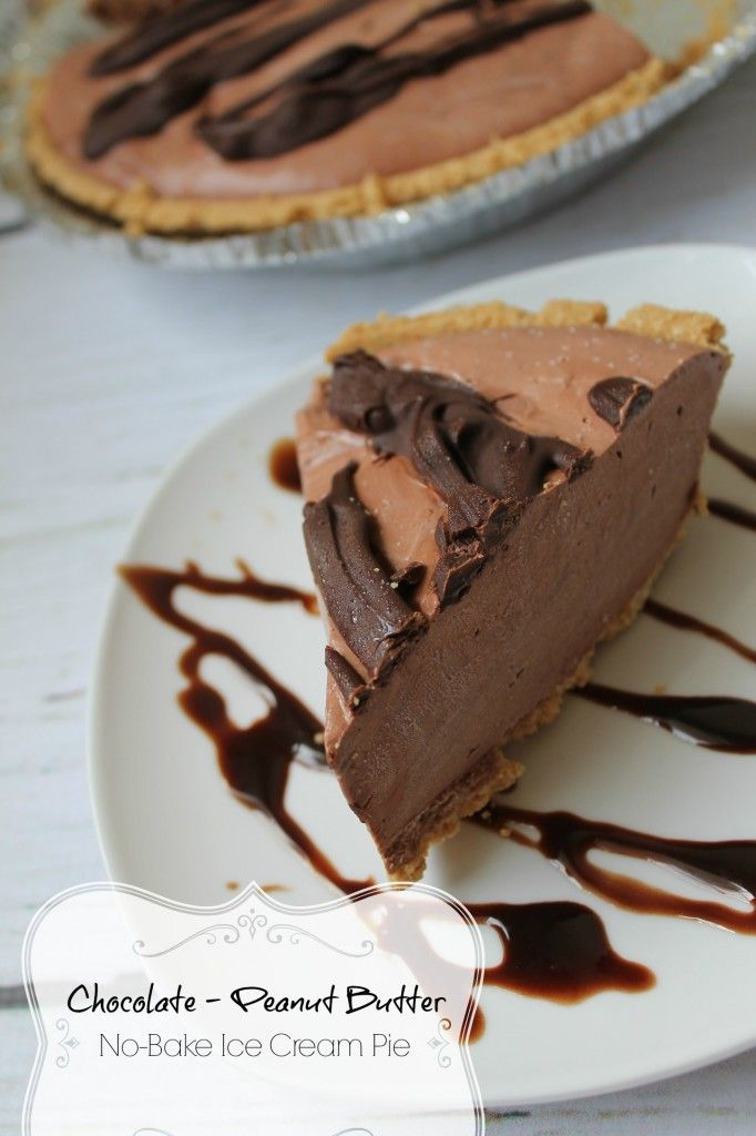 No-Bake Chocolate Peanut Butter Ice Box Pie! Only 6 Ingredients and You don't have to turn your oven on :)